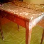 tavolino prima del restauro